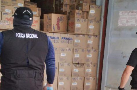 Detectaron 23 paquetes de droga dentro de contenedor en Puerto Balboa