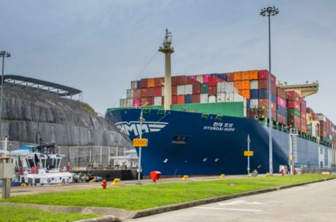 Portacontenedor Hyundai Hope hizo su tránsito inaugural por el Canal de Panamá