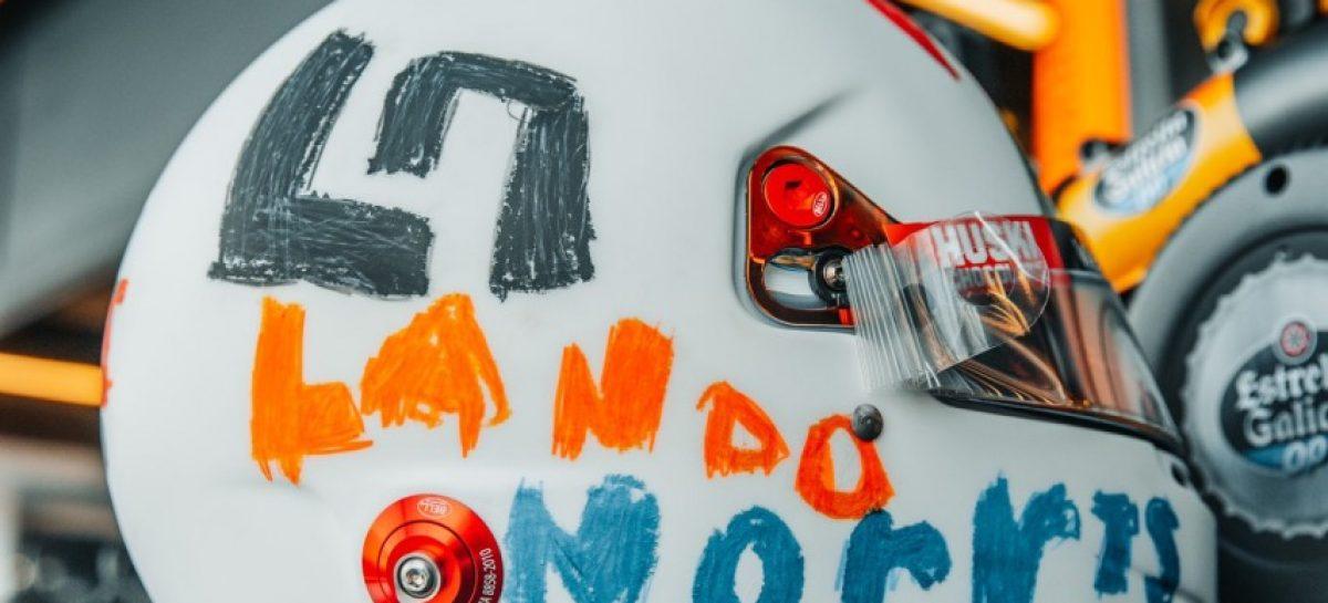 Lando Norris correrá con un casco diseñado por una niña de seis años