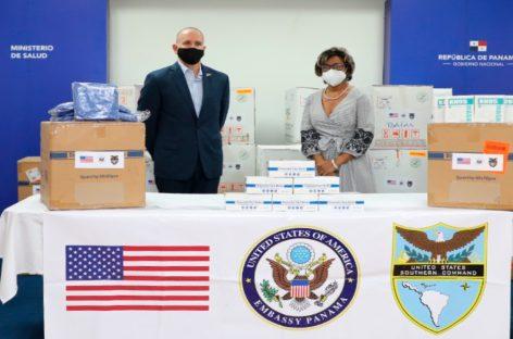 EEUU entregó cerca de 90,000$ en equipos de protección contra COVID-19 a hospitales panameños